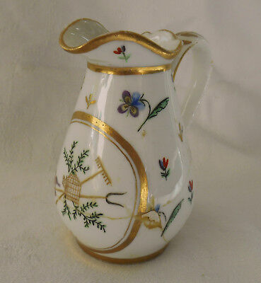 Antique 18th Century Porcelain Cream Milk Jug Hand Painted A/F unidentified mark