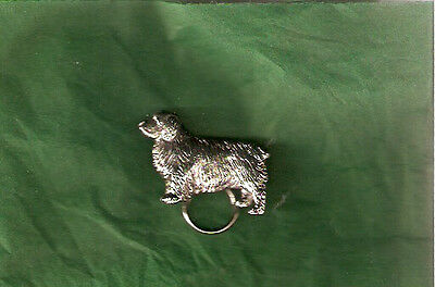 Clumber Spaniel Nickel Silver Eyeglass Holder Pin Jewelry