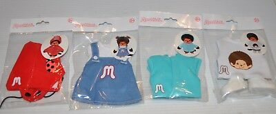 lot of 4 MONCHHICHI Clothes / Clothing Bandai 2017 Sekiguchi sealed