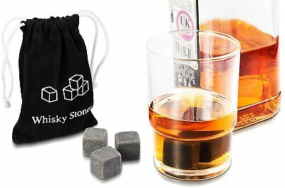 Whisky Stone 3D Skull Head Ice Moulding Tray Chilled Beer Whiskey Cooling w/ bag