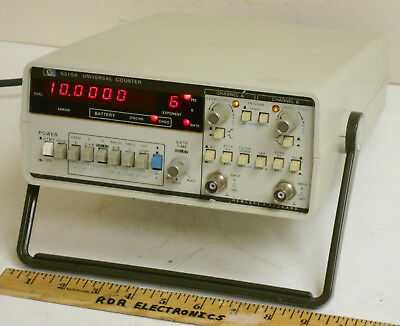 HP Agilent 5315A 100MHz Universal Counter w/ OPT-002 Internal Battery - Working