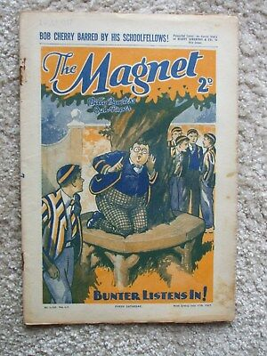 "The Magnet (Billy Bunter) - ""Barring Bob Cherry!"" -  Single Issue 1937"