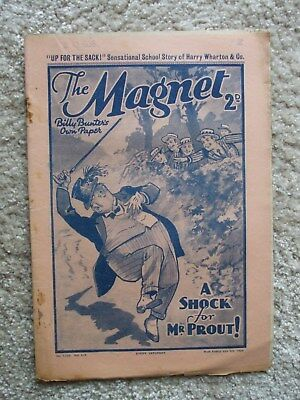 "The Magnet (Billy Bunter) - ""Up For The Sack!"" -  Single Issue 1938"
