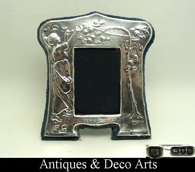 """Sterling Silver Picture- or Photo Frame London 1985 Makers """"DR&S"""""""