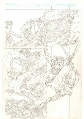 Rokkin #4 p.15 - Hero & Babe Action - 2006 Signed art by Nick Bradshaw