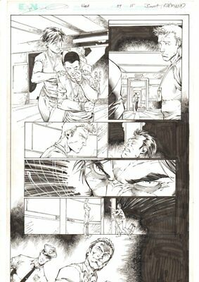 Flash #34 p.15 - Barry, Iris West, Wally and his Uncle Danny art by Brett Booth