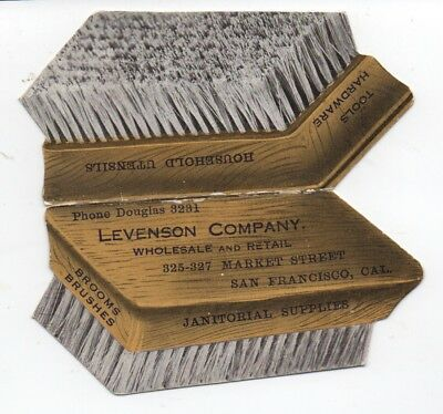 1920 folding Trade Card Levenson Company San Francisco Janitorial Supplies