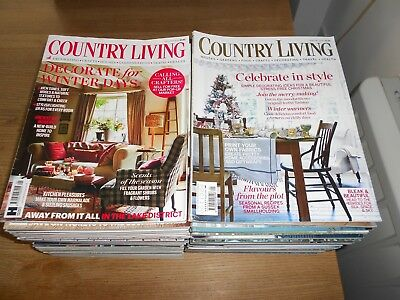 Country Living Magazines - 48 Issues - 2013 - 2016 - Used - Collection only