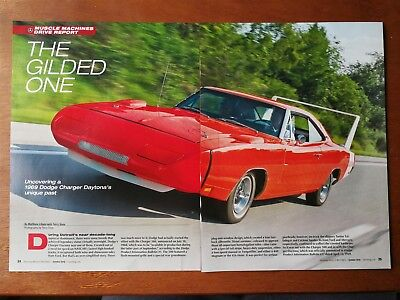 1969 Dodge Charger Daytona - Original 6 Page Article - Free Shipping