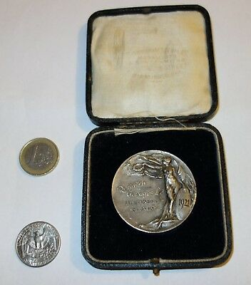 1921 REDDITCH Garages Ltd Challenge Cup Motor cycle Medal Souvenir & Org CASE