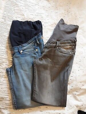 2 pairs h & m mama maternity jeans