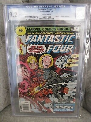 Fantastic Four # 172 v.1 CGC 9.2 30 cent VARIANT!  OFFWHITE pgs Jack Kirby cover