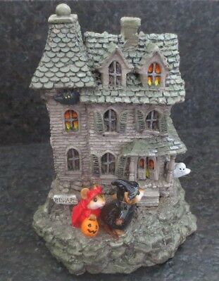 Wee Forest Folk WFF Haunted House Mouse M - 165 Collectible Figurine Repaired