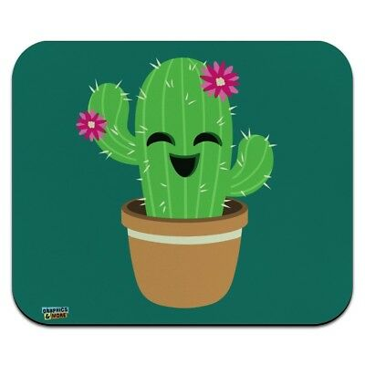 Cute Cactus in Pot with Pink Flowers Low Profile Thin Mouse Pad Mousepad