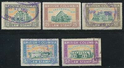 Canada Revenue Bcl46-Bcl50 Used Set