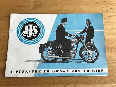 Nice 1958 AJS Motorcycles Catalogue & Price List