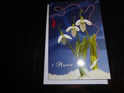 MARTISOR 1 Martie card   with 3 snowflower