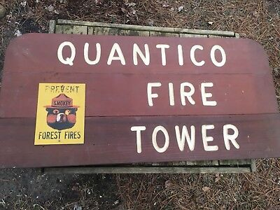 Forest Service Fire Tower Sign