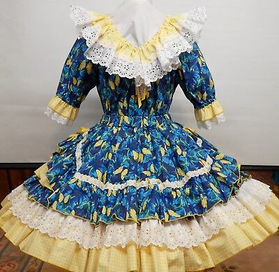2 Piece Rhythm Creations Butterfly Print Square Dance Dress