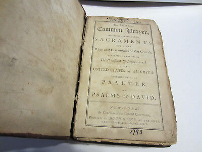 RARE 1793 The Book of Common Prayer, and Administration of the Sacraments