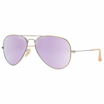 Ray Ban RB3025 167/4K 58mm Bronze Copper Lilac Mirror Flash Aviator Sunglasses