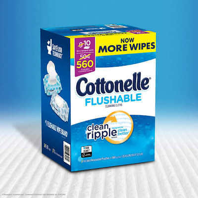Cottonelle Fresh Care Flushable Cleansing Cloths, 560 Cloths