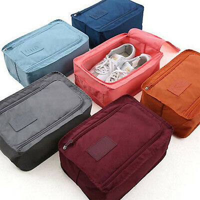 Portable Travel Shoes Storage Outdoor Tote Pouch Zip Waterproof Bag Organizer UP