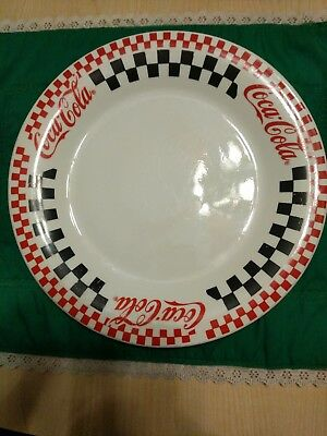 Coca Cola Dinner Plates Gibson Checkerboard Pattern 1996