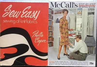 Vintage Books. Sew Easy, Sewing Of Knit Fabrics & McCall's, Step-by-Step Sewing