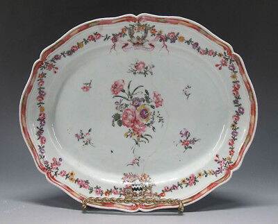 Rare China Trade Export Armorial Porcelain Platter Charger Dutch Market NR yqz