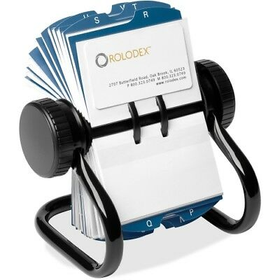 Rolodex rotary business card file black small office equipment open rotary business card file w24 guides black reheart Images