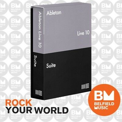 Ableton Live 10 Suite Upgrade from Live Lite Software - Brand New
