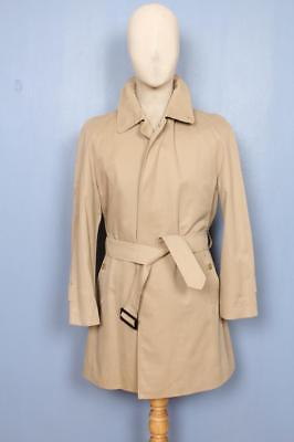 Mens BURBERRY Single Breasted Short TRENCH Coat Mac ฺBeige Size 36/38