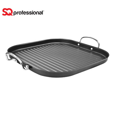 30cm Non Stick Carbon Steel BBQ Hob Frying Griddle Skillet Grill Fry Pan Square