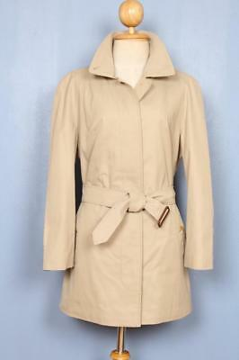 Womens BURBERRY Single Breasted Short TRENCH Coat Mac Beige 16/18 L/XL