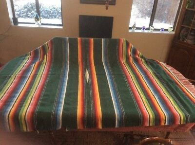 "Vintage Large Saltillo Serape Colorful Saddle Blanket 60"" x 90"""