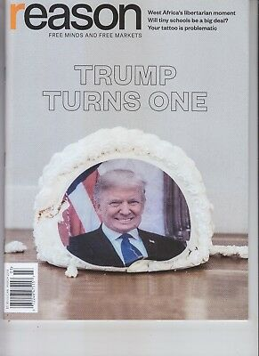 Donald Trump - Turns One Reason Magazine March 2018