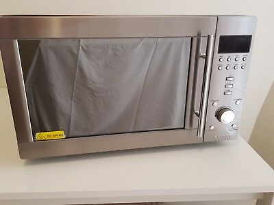 Smeg Stainless Steel Microwave 34L