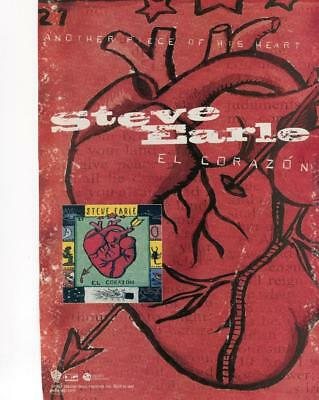 """1997 Print Ad For Steve Earle El Corazon Promo Ad """"another Piece Of His Heart"""""""