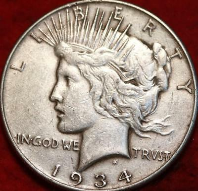 1934 Philadelphia Mint Silver Peace Dollar