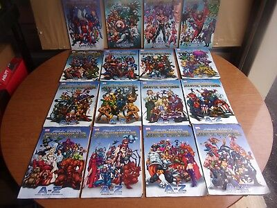 All New Official Handbook Of The Marvel Universe A-Z lot of 12 + 4 Updates(16)