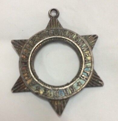 1898 Australia's Commonwealth Fob Medal Badge St Silver Stokes Not In Carlisle