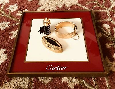 Cartier Display Presentation Tray with Leather Insert
