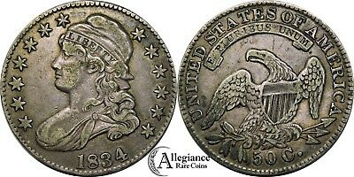 1834 Capped Bust Half Dollar (Large Date Large Letters) from old-time collection