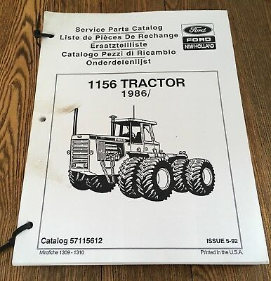 ford new holland 1156 tractor service parts manual $10 00 picclick