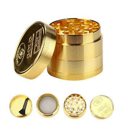 Tobacco Herb Spice Grinder 4 Piece Herbal Alloy Smoke Metal Chromium Crusher B