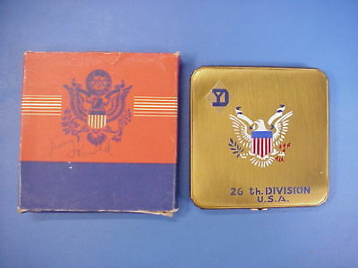 WWII Women's Compact US Army 26th Division U.S.A. Sweetheart Home Front