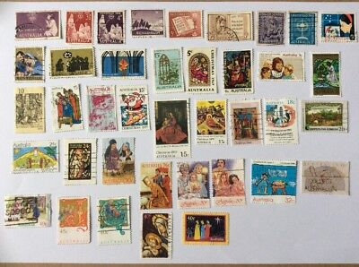 Australian Christmas Stamps X39 various 1957-1998