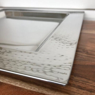 Polished Silver Stainless Steel Square Cheese/Platter/Tray/Holder/Plate