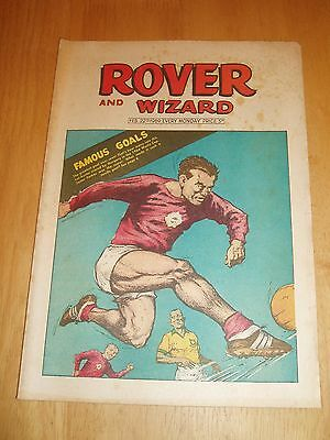 WORLD CUP 66 HUNGARY v BRAZIL AT EVERTON GREAT GOALS COVER IN ROVER COMIC 1969